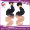 Человеческие волосы девственницы Remy волос Ombre тона высокого качества 2 бразильские (Hstb-A183