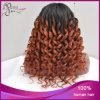 Ombre 1b/27# Candy Curl Peruvain Virgin Hair Silk Top Wig