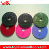 3 etapa Wet Used Flexible Diamond Polishing Pads para Stone Polishing