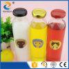 bottiglia di vetro della bevanda del cilindro 310ml con la protezione dell'aletta del metallo