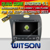 Carro DVD do Android 5.1 de Witson para KIA K3/Forte/Cerato 2013 com retrato da pia batismal DVR do Internet da ROM WiFi 3G de Rockchip 3188 1080P 16g do núcleo do quadrilátero no retrato (W2-F9586K)