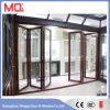 Aluminium de Guangzhou empilant la porte coulissante