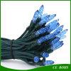 Lumières solaires de chaîne de caractères de barre de glace du bleu 50 DEL pour la décoration de mariage de fête de Noël