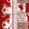 100%Polyester Blumenrose Pigment&Disperse druckte Gewebe für Bettwäsche-Set