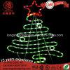 Свет рождественской елки мотива веревочки улицы звезды IP65 СИД декоративный для напольного светлого украшения