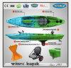 Único caiaque da canoa da pesca com os pedais para a promoção