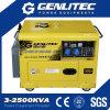 5kVA 5kw einphasig-beweglicher leiser Dieselgenerator