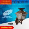 Luz al aire libre de carga accionada automáticamente solar de la pared del LED