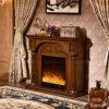Chauffage moderne de meubles approuvés d'hôtel de la CE allumant la cheminée électrique (332)