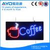 Sinal sensível do diodo emissor de luz do café do retângulo de Hidly