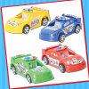 MiniPolizeiwagen-Spielzeug mit süsser Süßigkeit zurückziehen