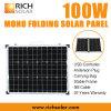 панель солнечных батарей 100W 12V Mono фотовольтайческая складывая для домашней пользы