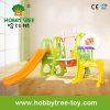 Diapositiva plástica 2017 del bebé estándar del Ce con el baloncesto y el balompié (HBS17032D)