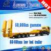80t hydraulische Lowbed/de Lage Aanhangwagens van de Vrachtwagen van de Lading van de Lader van het Dek Lage Semi