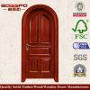 円形のヘッドデザインパネルの入口の木製のドア(XS2-037)