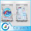 Bolso plástico de la impresión con las manijas para el empaquetado del detergente