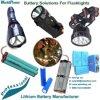 LED-Beleuchtung-Taschenlampen-taktisches helles Lithium-Ionenbatterie-Satz Soem