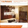 Gabinete de cozinha da madeira contínua da mobília da cozinha de Brown