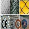 Покрынная PVC гальванизированная загородка звена цепи