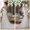 Robes de mariage couvertes de lacet de sirène de douille (T10005)