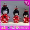Tranditional 2015 Folk Crafts Cute japanisches Doll, Hot Sell Custom Design Wooden Dolls, Wooden Kimono Dolls für Decoration W06D070A