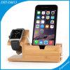 Sostenedor de madera respetuoso del medio ambiente del teléfono móvil (DST-DM13)