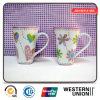 Color cor-de-rosa Ceramic Mug com o Handle para Milk/Coffee