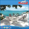 Mobilia stabilita pranzante esterna del balcone del rattan semplice di disegno moderno del migliore venditore bella