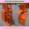 Kleine halb automatische hydraulische Ziegelstein-Presse-Geräten-Maschine des Lehm-Qt1-25