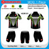 Sleeve court Sublimation Cycling Jersey avec Pad