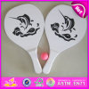 2015 preiswertes Promotional Wooden Beach Racket mit Ball, Best Seller Wooden Beach Racket Set, Wooden Beach Racket für Outdoor W01A107