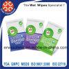 Устранимое безалкогольное все естественные Wipes Antibacterial с ISO