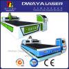 cortadora de fibra óptica plateada de metal del laser del CNC 1000W