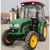 Farm Tractor 55HP com Paddy Tire Front Loader Attached