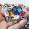 El cristal de cristal de lujo cose en Rhinestone con la garra (SW-Rectangle/10*14mm)