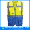 Vestes reflexivas azuis da segurança da visibilidade elevada do vestuário do trabalho com logotipo