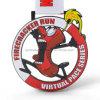 Het grappige Cijfer van het Beeldverhaal van de Voetzoeker van de Douane stelt de Medaille van de Sport in werking