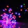Luz solar da corda do diodo emissor de luz com tamanhos diferentes para o Natal
