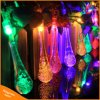 L'indicatore luminoso solare della stringa di goccia 20/30LED dell'acqua per il festival di natale decora