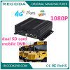 1080P leben Ansicht Doppel-Ableiter-Karten-mobiles Fahrzeug DVR mit 4G 3G GPS WiFi für Bus