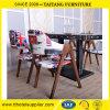 Vector y silla de madera del café de Industria del restaurante