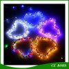 luz solar impermeável ao ar livre decorativa colorida da corda do cobre da corda da luz de tira do diodo emissor de luz da lâmpada do jardim da árvore de Natal 150LED