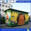 Da casa Foldable do recipiente do bloco liso de China casa expansível do recipiente do painel do painel e do telhado de parede do sanduíche e da construção de aço montada