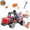 Kind-blockt Plastikrettungs-LKW Spielzeug