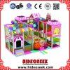 Equipamento interno barato pequeno cor-de-rosa encantador do campo de jogos para crianças