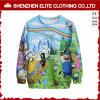 Maglietta felpata del pullover del panno morbido di sublimazione del poliestere degli uomini di disegno di modo (ELTSTJ-760)