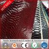 Cuir synthétique de PVC de cuir de cuir artificiel pour des chaussures pour le sofa pour des sacs