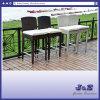 あと振れ止め、庭の藤の家具(J408)が付いている屋外のステンレス鋼の柳細工のテラスの家具Barstool