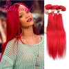 Het menselijke Rechte Haar die van het Haar van de Kleur Rode de Uitbreiding van het Menselijke Haar weven Remy