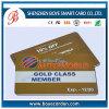 Carnet de socio plástico del PVC de la clase del oro
